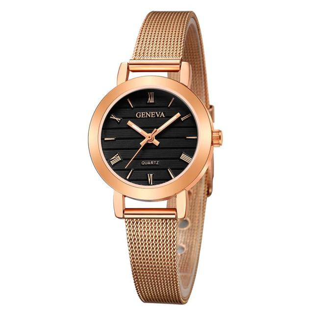 Top Brand Luxury Watch Small montre femme Quartz Analog Clock 3 Bar Silicone Bra