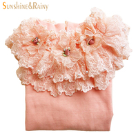3 12y Autumn Winter Kids Girls Sweater Fashion Pearls Lace Sweater Cotton Cardigan Baby Outerwear Shirts