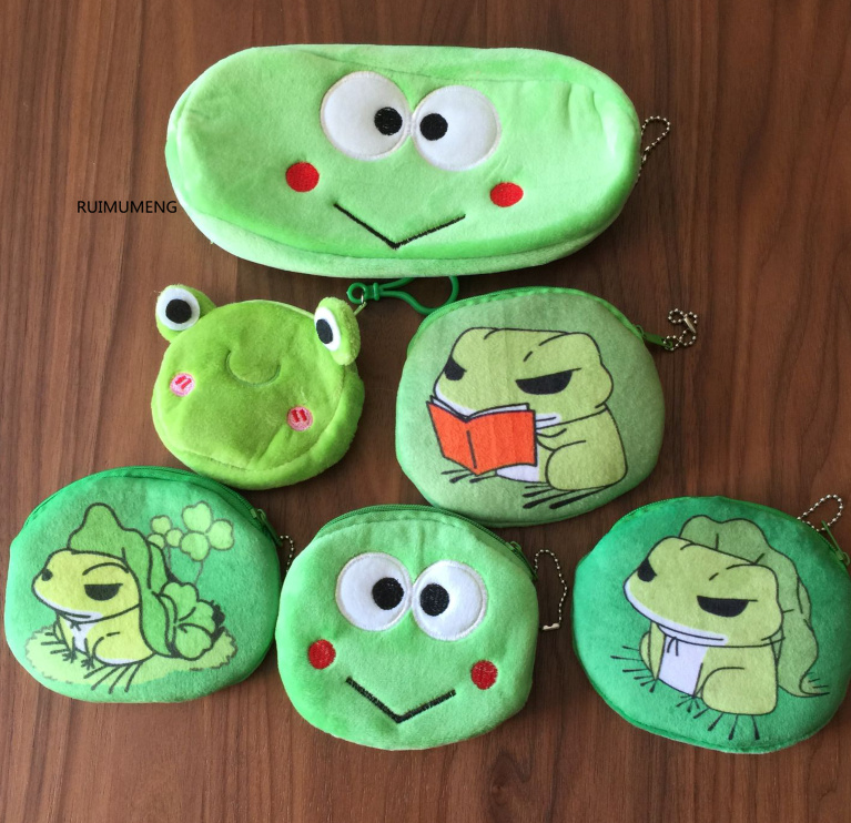 Cute Cartoon Frog Wallet For Women Kids Soft Plush Lovely Frog Coin Purse Small Mini Wallet Money Bag Gift Coin Purses & Holders Coin Purses