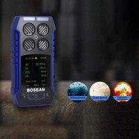 3 в 1 O2 co H2S газоанализатор детектор утечки газа со звуком + свет + шок сигнализация Цифровой Температура время газ качества воздуха газа Сенсо