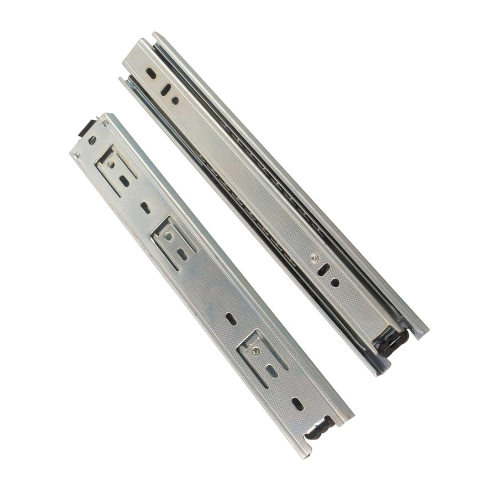 2pcs 14inch Drawer Slides 40mm Width Cold-Rolled Steel Fold Telescopic Drawer Runner Ball Bearing Furniture Cabinet Sliding domestic steel luxury damping drawer slides drawer 300mm deep into the low to help