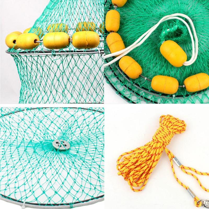 Portable Fishing Net 3 Layers Collapsible Fish Network Casting Nets Crayfish Shrimp Catcher Tank Trap China Cages Mesh