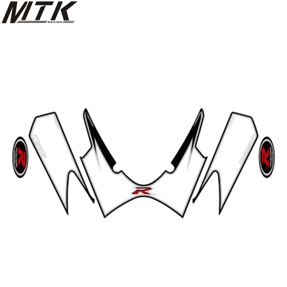 MTKRACING Motorcycle front fairing engine number plate 3D gel protection for SUZUKI GSXR 1000 2008 gsxr 1000