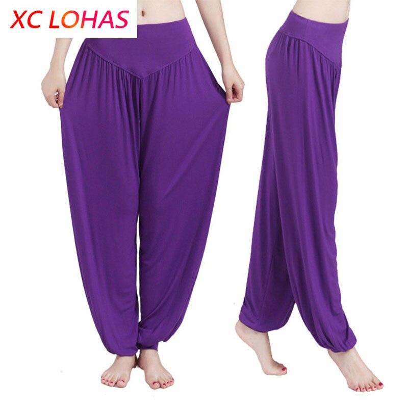 Pantalones de Yoga Mujer Plus TAMAÑO DE Bloomers de Yoga de baile TaiChi pantalones longitud completa suave No psiquiatra antiestático pantalones 3XL Dropship
