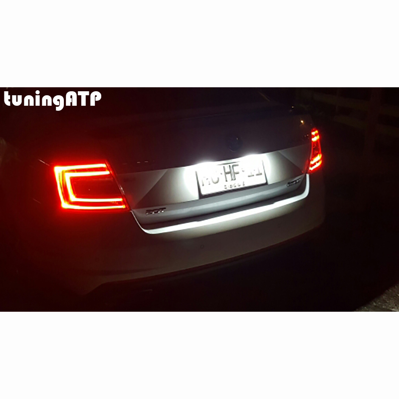 tuningatp bright white led license number plate light lamps for