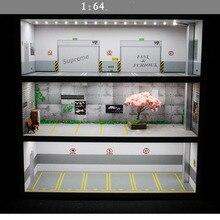 1: 64 модель парковки дисплей игрушка-шкафчик стеллаж для хранения автомобиля полка коробка имитация гаража шоу место парковки