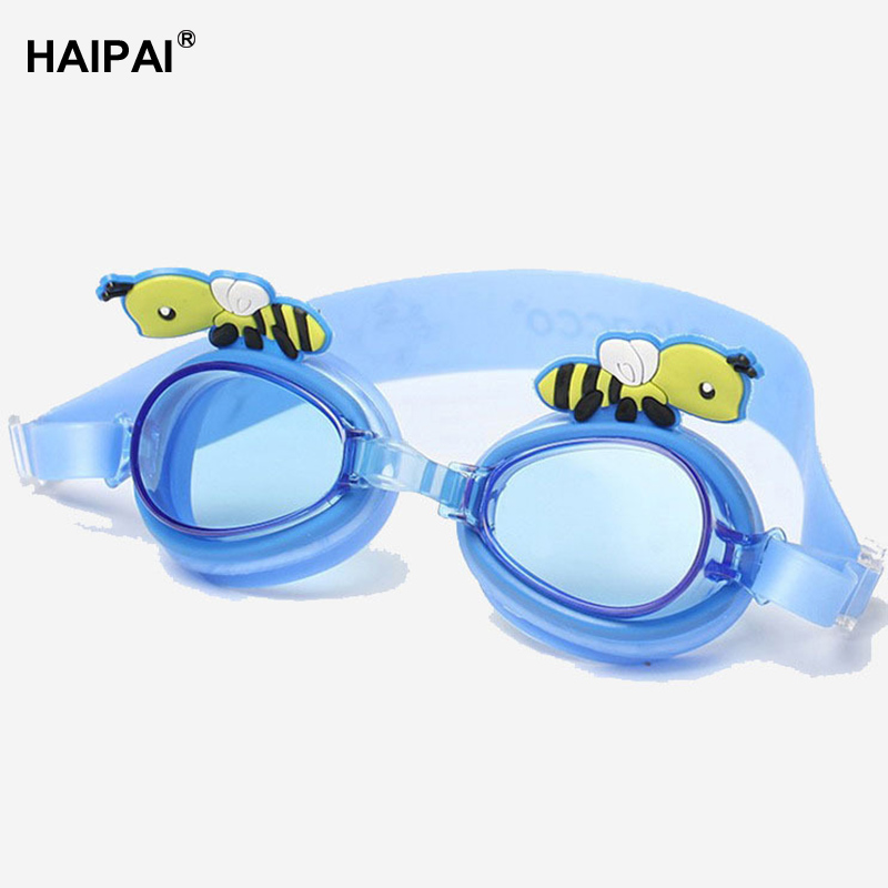 Haipai boy girl protective glasses for the pool antifog Waterproof Anti-UV swimming glasses Silicone lens strap swimming goggles