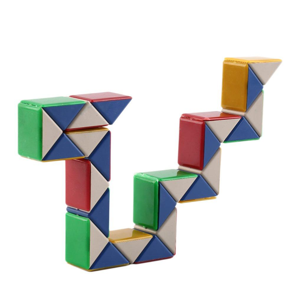 1Pcs Funny Rainbow Magic Ball Plastic Cube Twist Puzzle Toys For Kids Adult GiLN