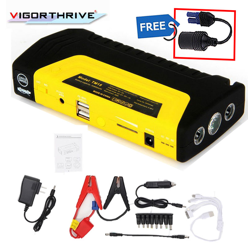 new arrival top quality Multi-Function Car Jump Starter Power Bank Rechargable Battery 12V with 2 USB port