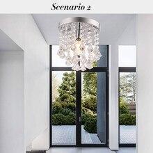 (US) E14 LED Crystal Glass Ceiling Light Crystal Chandelier Dropshipping wg 8364 e14 base holder 3 light crystal chandelier ceiling lamp silver