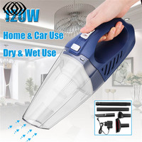 120W Wireless Handheld Car Vacuum Cleaner Cordless Portable Wet Dry Dual Use Vacuum Cleaner Mini Household