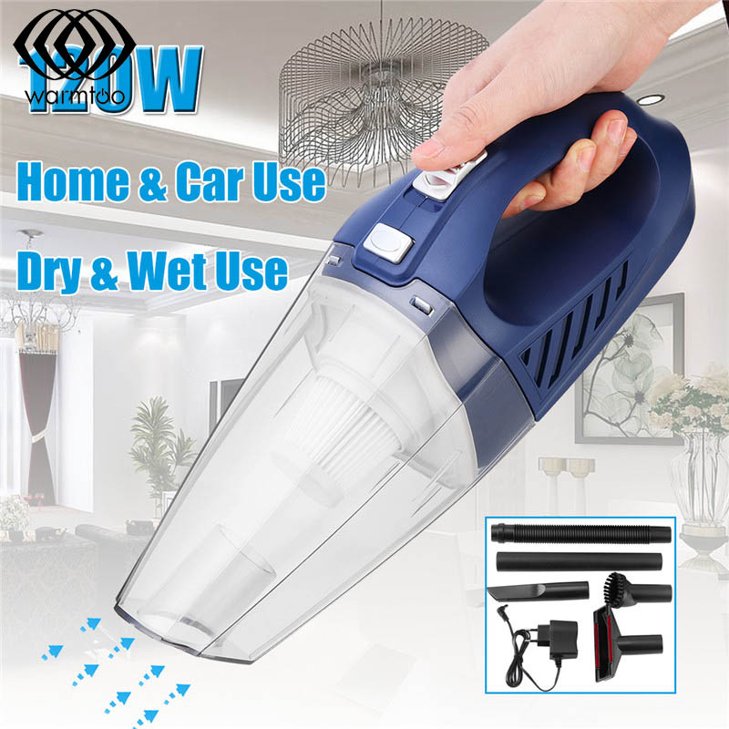 120W Wireless Handheld Car Vacuum Cleaner Cordless Portable Wet Dry Dual Use Vacuum Cleaner Mini Household Cleaning Appliances
