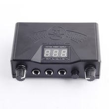Tattoo-Machine Power-Supply Digital LED Black 3 Dual Display for Liner Shader Permanent