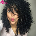 Virgin Bohemian Curly Hair 4 Bundles Bohemian Jerry Curl Virgin Hair Short Cheap Afro Kinky Curly Hair Weave Sassy Girl Hair