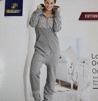 Woman Winter grey color jumpsuits casual bodysuit