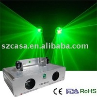 Pro Sound Stage And Lighting 50 mW Green Double Head Laser Beams For Sale