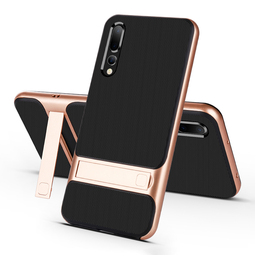 Mobile Case Back Cover for Huawei P20 P20Pro Stand Case Cover Shockproof 360 Full Protective 3D Mobile Case Back Cover for Huawei P20 P20Pro Stand Case Cover Shockproof 360 Full Protective 3D Hybrid for HuaweiP20 Pro Fundas