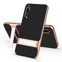 Mobile Fall Zurück Abdeckung für Huawei P20 P20Pro Stehen Fall Abdeckung Stoßfest 360 Volle Schutzhülle 3D Hybrid für HuaweiP20 Pro fundas