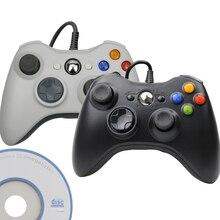 USB 유선 컨트롤러 Joypad For Microsoft System PC Windows Gamepad For PC Win 7 / 8/10 조이스틱 for Xbox 360 조이패드