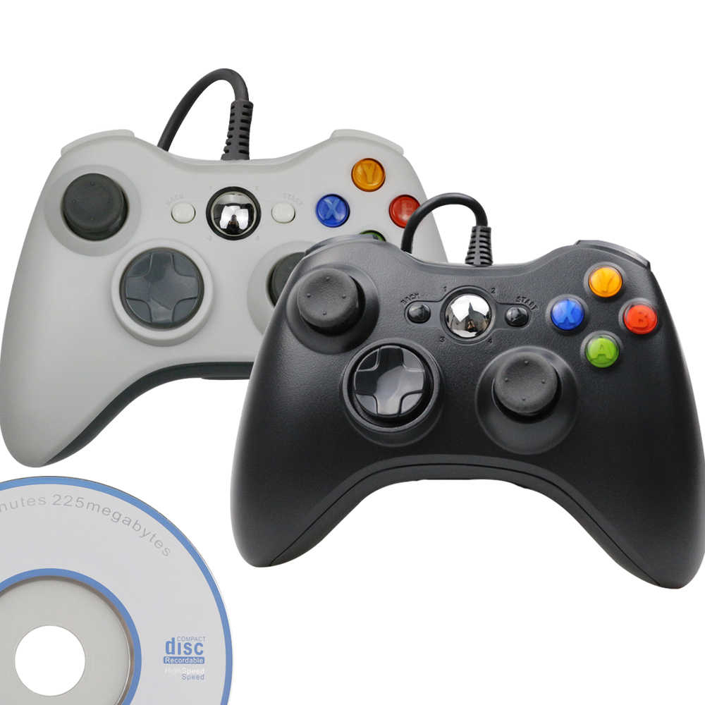 USB Wired Controller Joypad For Microsoft System PC Windows Gamepad For PC Win 7 / 8/10 Joystick Not for Xbox 360 Joypad image
