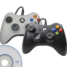 USB kablolu denetleyici Joypad için Microsoft sistemi PC Windows PC için Gamepad Win 7 / 8/10 Joystick için değil Xbox 360 joypad