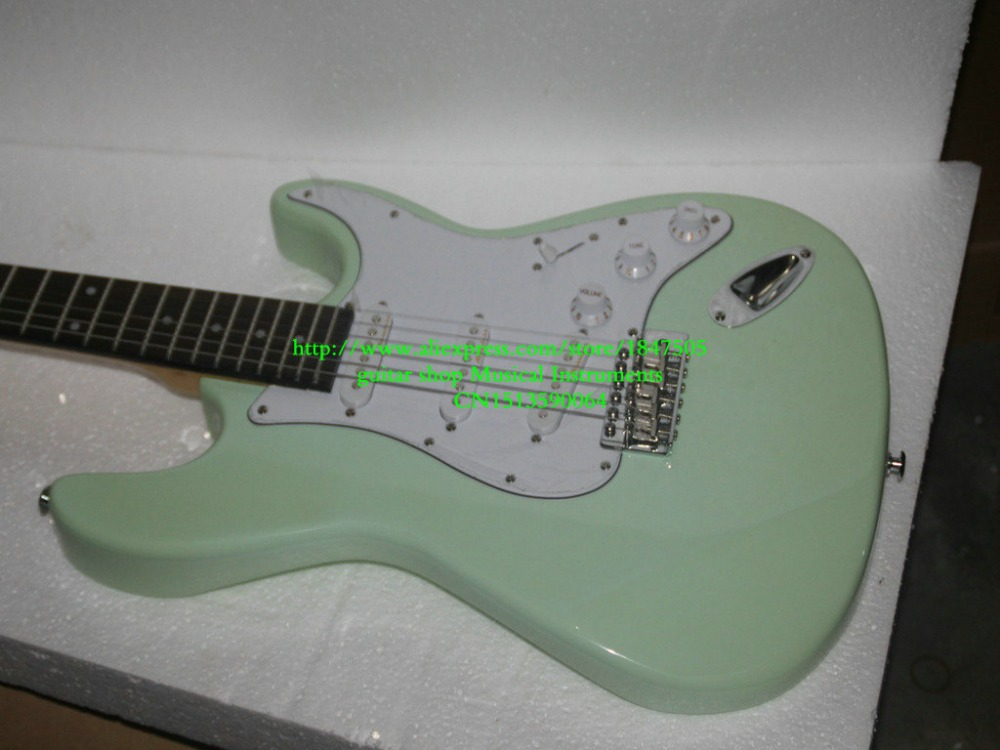 Electric guitar Green color top point fret inlay OEM Electric guitar in stock green top