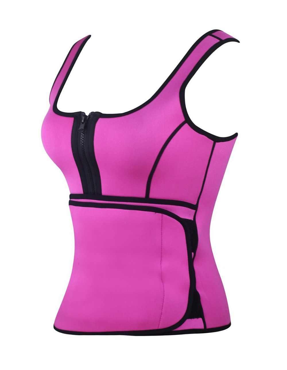 4777781e893 ... Neoprene Sauna Waist Trainer Vest Hot Shaper Summer Workout Shaperwear Slimming  Adjustable Sweat Belt Fajas Body ...
