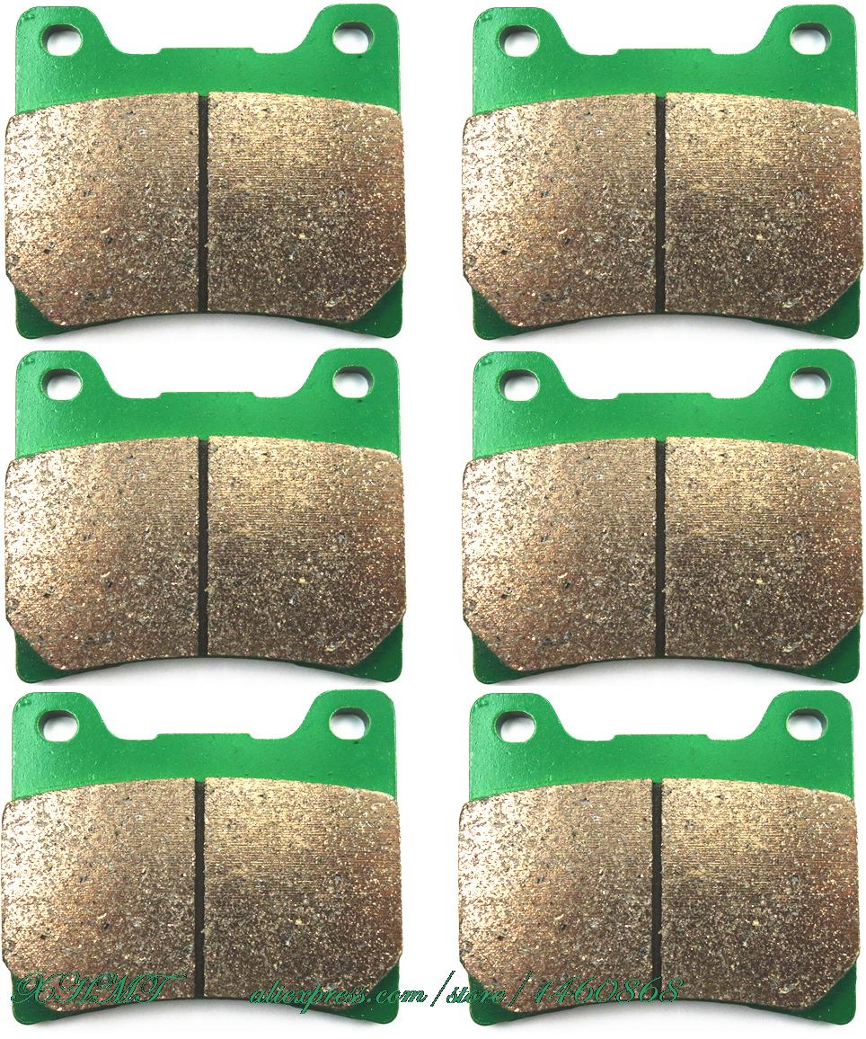 Brake Pads Set for YAMAHA FZ750 FZ 750 1985 1986 / FZ750 GENESIS 1987 1988 / FZX750 FZX 750 1987 &up/ FZR600 FZR 600 1989 &up 2 pairs motorcycle brake pads for yamaha fzr 750 fzr750 genesis 1987 1988 sintered brake disc pad