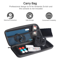 13 In 1 Accessories Set For Nintend Switch With Carrying Bag Earphone Thumb Cap Case Screen