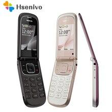 Отремонтированный Мобильный телефон Nokia 3710f 3710 раз разблокировка Bluetooth 3g мобильный телефон Английский Русский Арабский Иврит Клавиатура