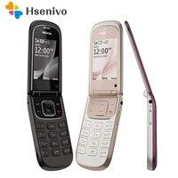Original Refurbished Nokia 3710f Cellphones 3710 Fold Unlock Bluetooth 3G mobile Phone English Russian Arabic Hebrew Keyboard