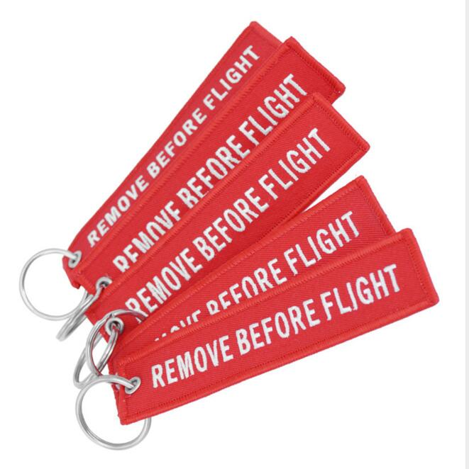Fashion Remove Hanging Decor Keychain for Mobile Before Flight Letters Embroidered Key Chain Bag Dropper Shipping