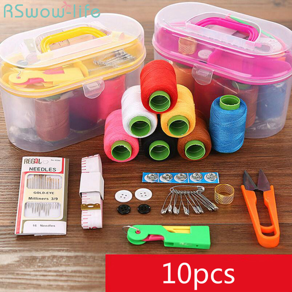 Large Sewing Box Set Household Portable 10 Piece Mini Tool Thread Multi-function Kit For Tools