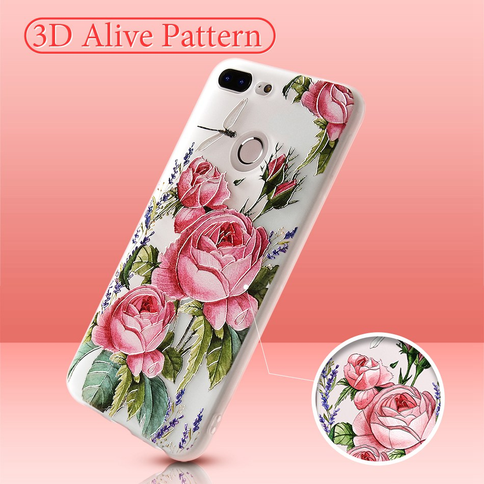 3D Relief Flower TPU Case For On Honor 9 9 lite Soft Silicone Case Back Cover Case for Huawei P20 P10 lite NOVA 2 Case           (3)