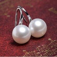 2019 горячие модные серьги-гвоздики женские Bijoux посеребренные серьги белые имитация жемчуга Висячие серьги для женщин ювелирные изделия