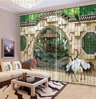 Фабрика diret продажи 3D шторы арочные двери 3D Окна Шторы Для Постельных Принадлежностей номере