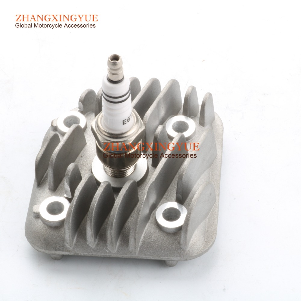 40mm - 47mm 1PE40QMB CYLINDER HEAD & E6TC spark plugs for Yamaha JOG 50 92-91 4SC JOG 50 R AC 02-13 Neos 50 97-13 5AD Easy 2T