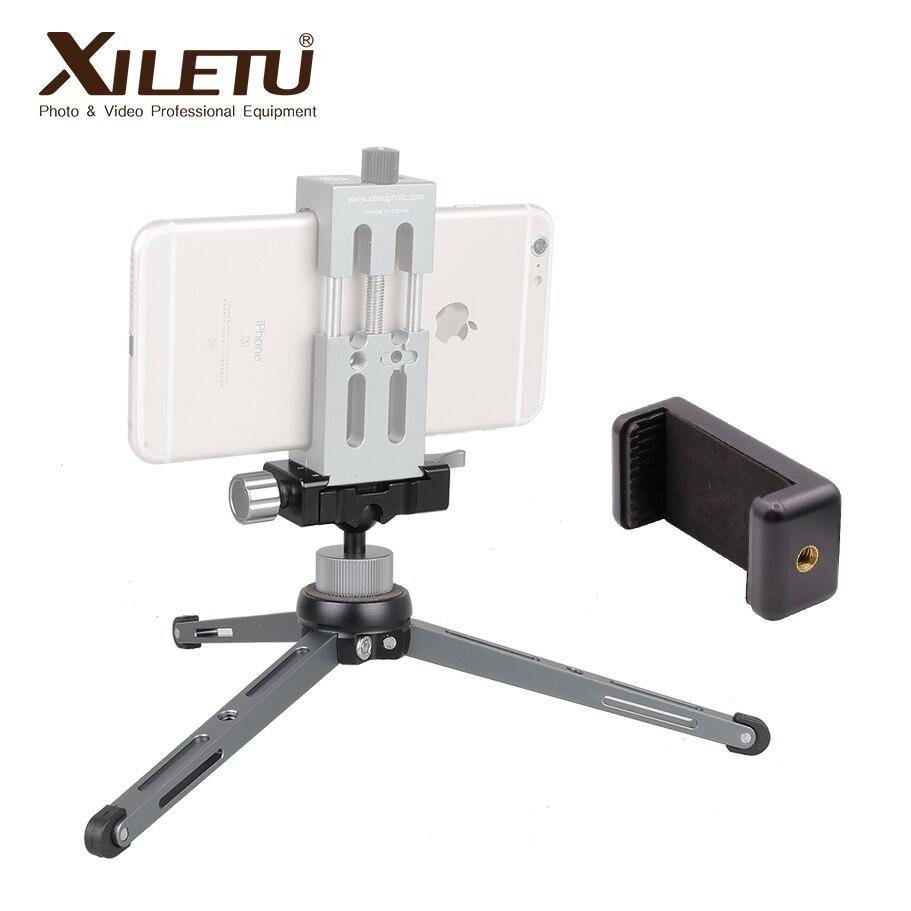 XILETU XT-15 + BS-1 miniature rotule avec Téléphone Stand de bureau Léger Mini Trépied Pour Smartphone DSLR caméra grand palier