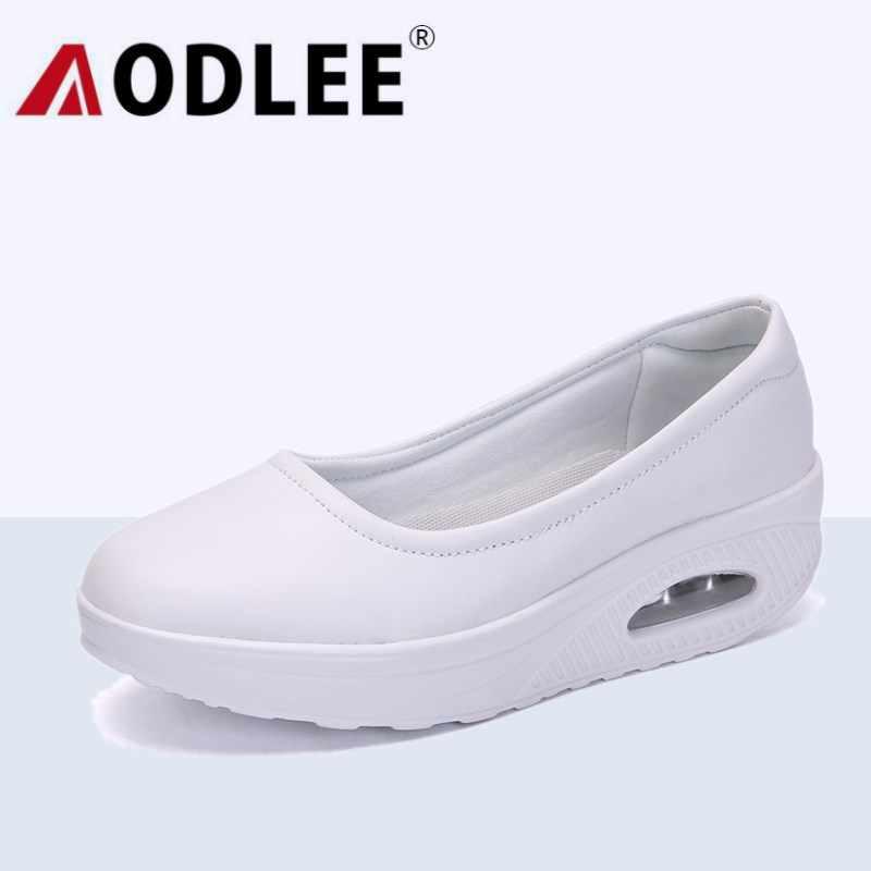e4aab406167a Detail Feedback Questions about AODLEE Plus Size 35 42 Fashion White Nurse  Shoes Women Ladies Shoes Air Cushion Sneakers Women Platform Flat Shoes  Women ...