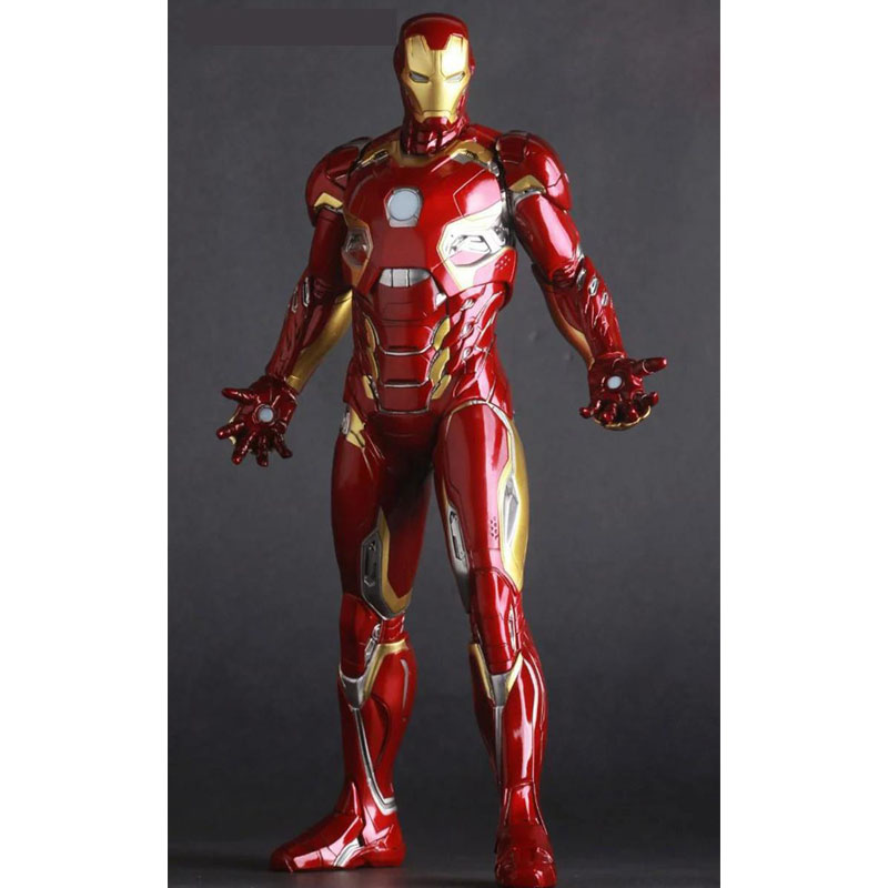 ZXZ Marvel Avengers Iron Man MK45 30cm Action Figure Anime Mini Decoration PVC Collection Figurine Toy model for children 30cm big size marvel iron man movable avengers movie anime figure pvc collection model toy action figure for friends gift