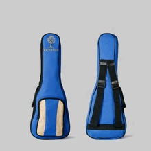 23 24inch blue double small guitar bag, thicken Ukulele backpack, wear-resisting Ukelele hand guitar bags