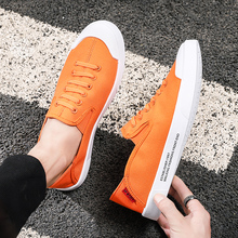 Summer Slip on Canvas Shoes Men Vulcanize Driving Flat