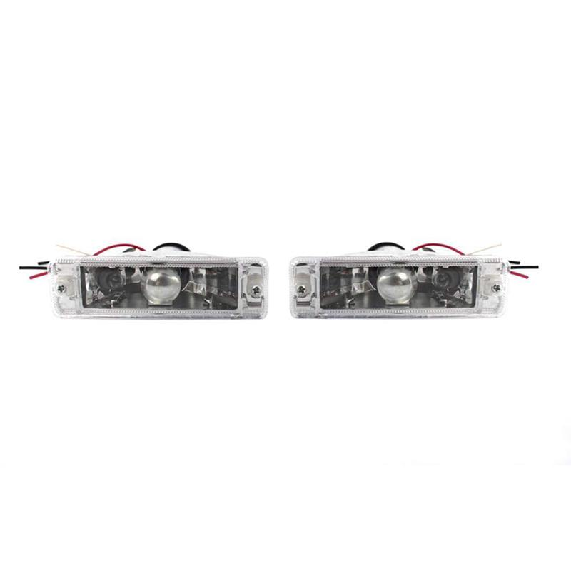 1 pair For Transparent Lens Front Led Relay Lamp Front Bar Steering Lamp For Volkswagen Golf J e t t a Mk1 Mk2 171953055
