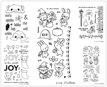 AZSG Cartoon Style Lovely Animals Clear Stamps/Seal For DIY Scrapbooking/Card Making/Album Decorative Silicone Stamp Craft