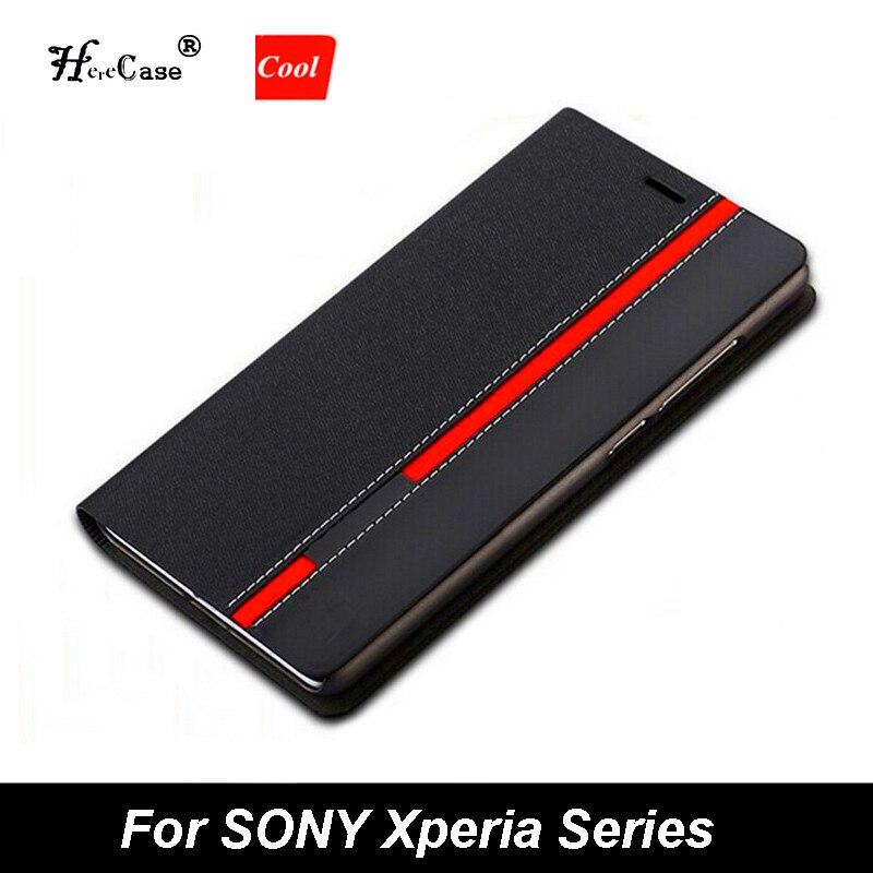 Portefeuille de luxe sac Stand couleurs mélangées Flip PU étui en cuir pour Sony Xperia X XA1 XA2/XA2 XA1 Ultra XZ1 XZ2 Compact Z3 Z5 couverture