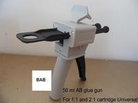 Epoxy Resin AB Glue Caulking Gun Cartridge 50 ML 2 1 1 1 Universal Manual Dispense
