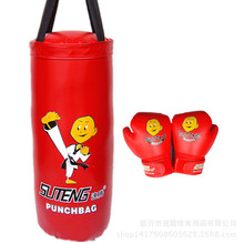 kids boxing gloves+boxing bag pear 2pcs set for children kick boxing gloves pu leather sports fighting boxing gloves for boys