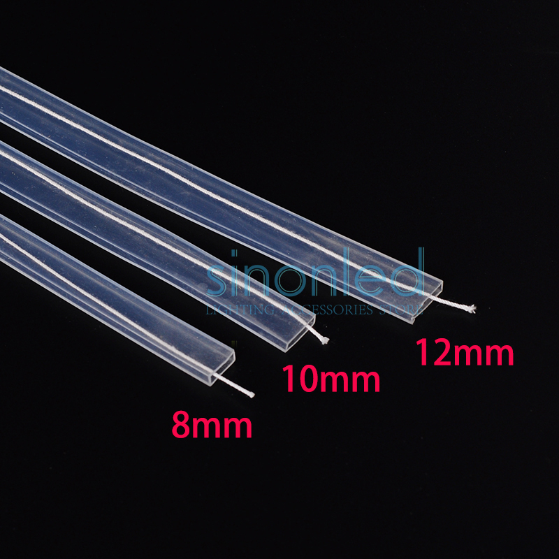 5m~20m length 8mm/10mm/12mm Silicon tube IP67 for SMD 5050 3528 3014 5630 ws2801 ws2811 ws2812b waterproof led strip light led connector 2 pin 3 pin 4 pin solderless for 8mm 10mm 5050 3528 ws2811 ws2812b 5630 5730 smd led strip 5pcs lot