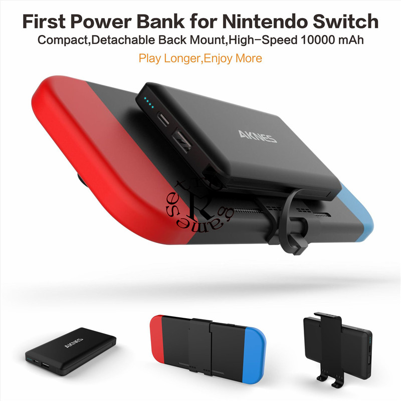 10000mAh Extended Battery Charger Case For NINTENDO SWITCH NS Power bank Cover Power Pack For NINTEND SWITCH original oneplus 10000mah power bank silicone case charger protector cover black
