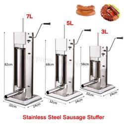 Нержавеющая сталь 3L колбасный шприц наполнитель ручной вертикальный колбаса машина кухня устройство для испанских Чуррос